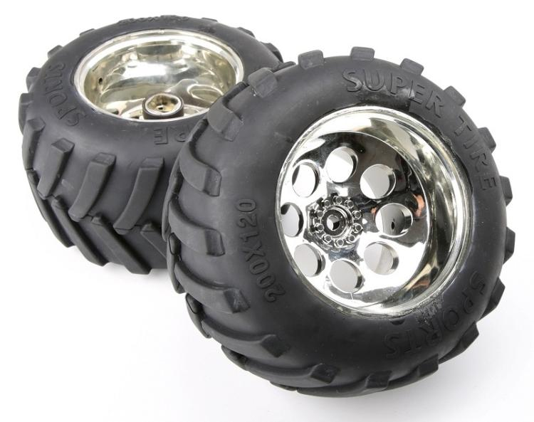 1/5 Scale Gas Rc Baja Tyres Parts BM FG Truck Tyres With Chrome Wheel Hubs Rovan parts rovan 1 5 scale 26cc gas powered engine racing baja 5b rc car truck