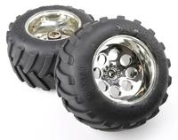 1/5 Scale Gas Rc Baja Tyres Parts BM FG Truck Tyres With Chrome Wheel Hubs Rovan parts NEW