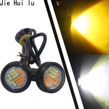 2 PCS White DC 12V Eagle Eye Eyes Waterproof LED Trail Rig Lights For Car Truck Trail Rig Rock Lamp Glow Light Dual Color 23MM(China)