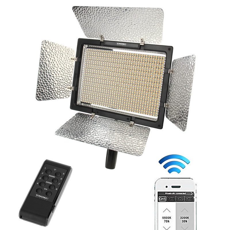 YONGNUO YN900 For Canon Nikon Camera LED Video Light Panel CRI 95+ 3200K-5500K 7200LM 54W Wireless Control Photographic Lighting