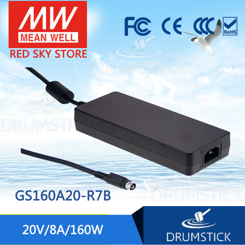 цена на Hot sale MEAN WELL GS160A20-R7B 20V 8A meanwell GS160A 20V 160W AC-DC Industrial Adaptor