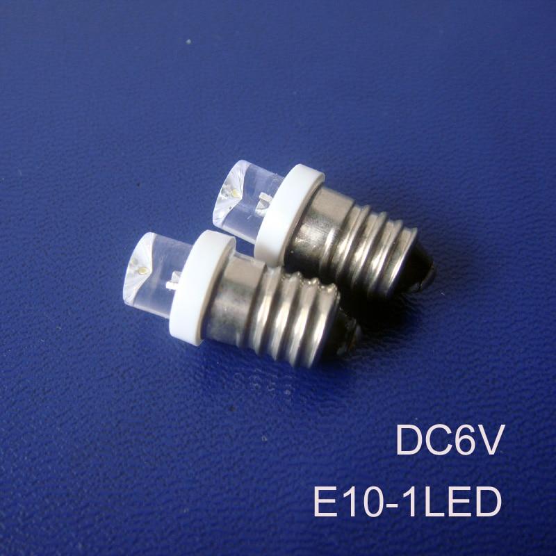 High quality 6V E10 led Indicator lights,car led E10 bulbs,E10 led pilot lamp 6.3V led e10 warning light free shipping 20pcs/lot
