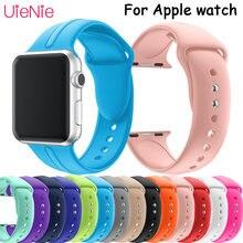 Спортивный силиконовый ремешок для apple watch 40 мм 44 38 42