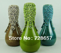 Pageantry Modern Fashion Simple Household Decorative Ceramic and Earthenware Glazed Vase of Handmade Flower