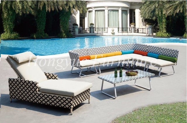 Rattan ecksofa lounge  Neueste designs sythetic rattan ecksofa mit rattan lounge stuhl ...