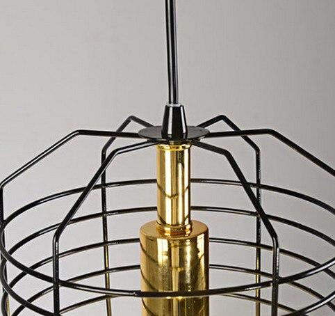 Stile Loft Creativo Gabbia Droplight LED Lampade a Sospensione Per La Sala da pranzo Lampada A Sospensione Vintage Illuminazione Industriale - 5