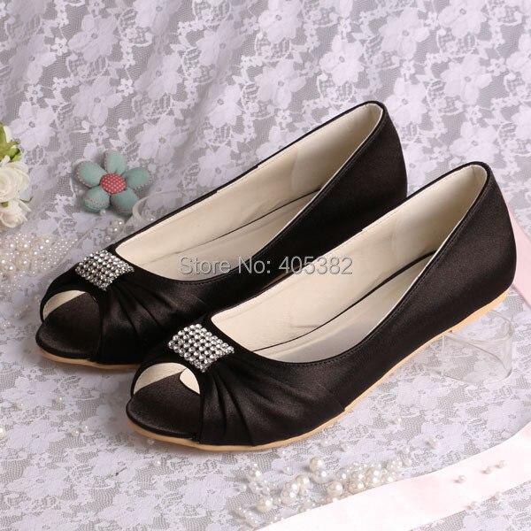 Handmade Crystal Ballerina Flat Party Wedding Shoes Bridesmaid