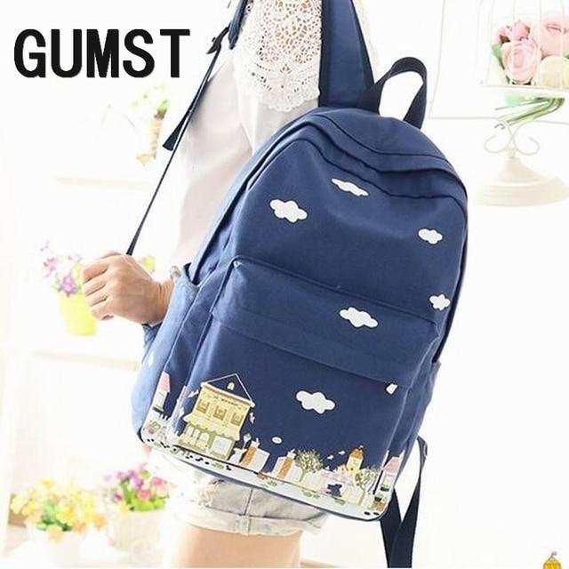 ad07fe14ec39 Canvas Backpack Women Bagpack Teenagers Backpacks For Teenage Teen Girls  Youth Feminine Backpack Girl Mochila Feminina