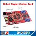 Nova chegada Full color display LED controlador Z8 levou exibição de vídeo porta HUB75 cartão de controle display LED sistema de controle