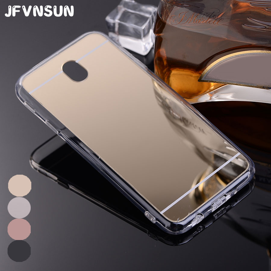 For Samsung Galaxy J5 J3 J7 2017 EU Case Luxury Mirror Case for SAMSUNG J7 J3 J5 2017 Cover PC + TPU Frame Full Protective Cases