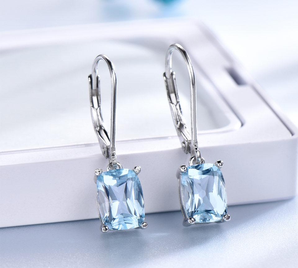 Honyy Sky blue topaz silver sterling jewelry sets for women EUJ054B-1-pc (5)