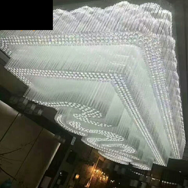 Engineering Lighting Customized Clouds Crystal Lighting Living Room Ceiling Lights Sales Department Hotel Lobby Lighting led bai room lighting