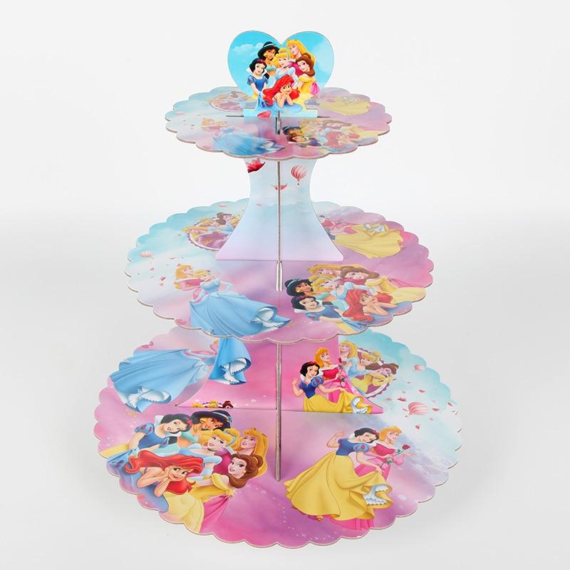 Princess 3 Tiers Paper Foldable Cupcake