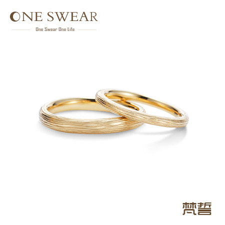 Oneswear Years Wedding Couple Ring 18k Real Gold Solid Natural