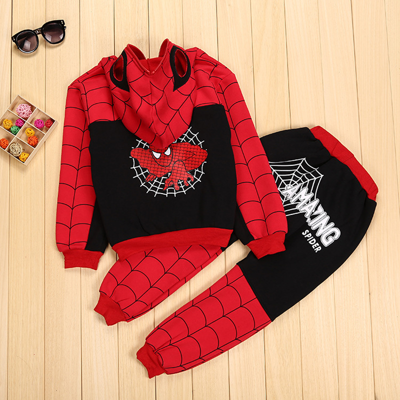 Children Clothing Autumn Winter Toddler Boys Clothes Sets Spiderman Costume Kids Clothes For Boys Clothing Suit 3 4 5 6 7 Year 35