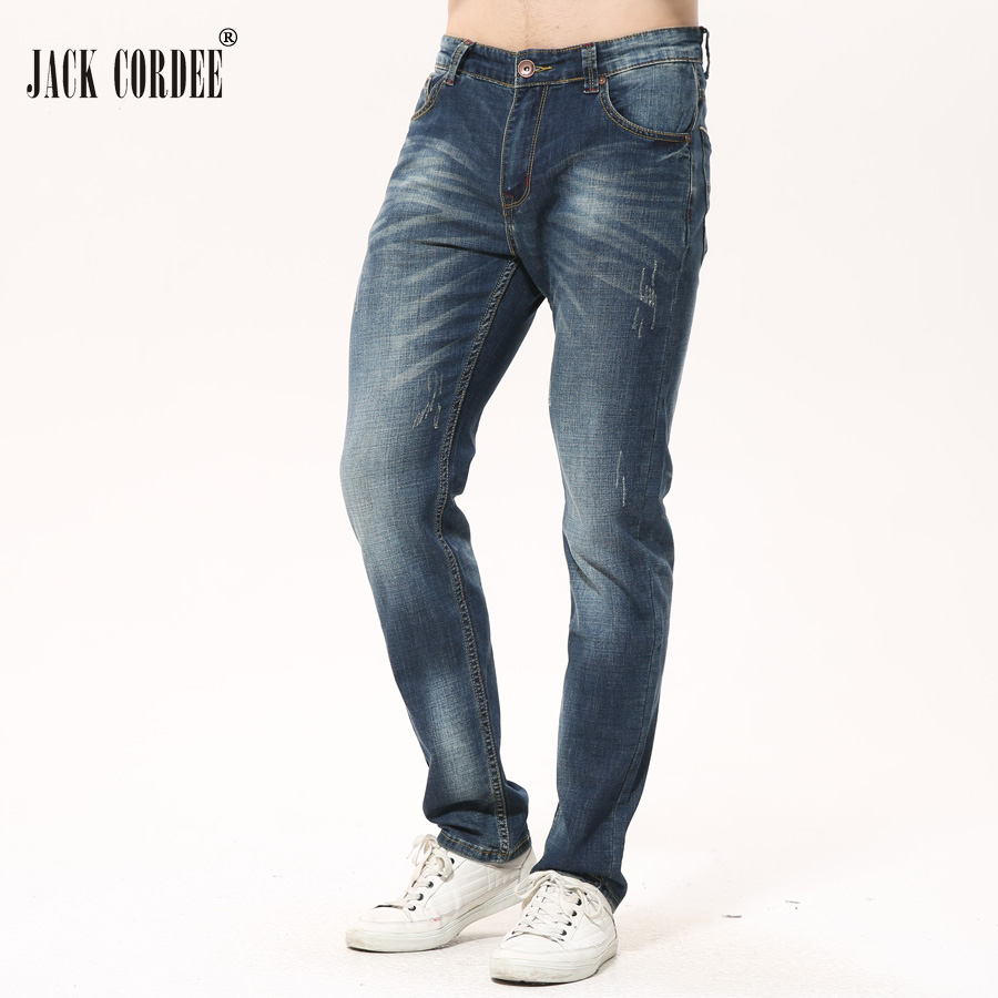 JACK CORDEE New Arrival Classic Straight Men Jeans Homme 2017 Casual Slim Jean Pants Cotton Denim Trouser Jeans Plus Size 28-40 men s cowboy jeans fashion blue jeans pant men plus sizes regular slim fit denim jean pants male high quality brand jeans