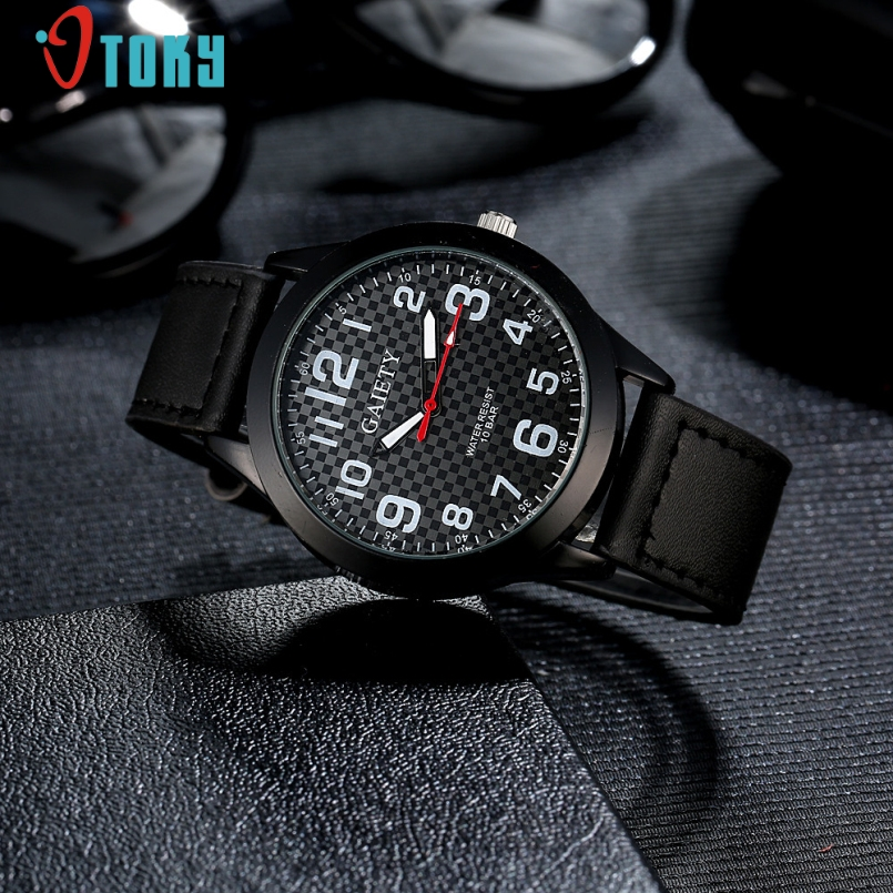 Excellent Quality 2017 Military Watches Men Leather Quartz Wrist Watch Mens Watch Reloj Relogio Luxury Mens Clock Hours Jan-12