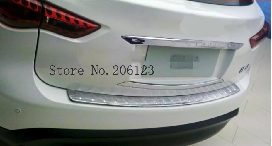 rear bumper sill protector rear trunk boot scuff plate for Infiniti QX QX70 FX FX35 FX37 FX50 2009-2017,304 stainless steel