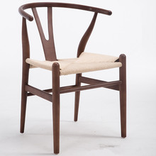 Dining-Chair Hans Wegner Wood Wishbone Cafe Modern for Furniture Beech Walnut/red Brown/natural-Finish