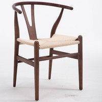 Modern Hans Wegner Wishbone Dining Chair Beech Wood Walnut Red Brown Natural Finish Y Chair For