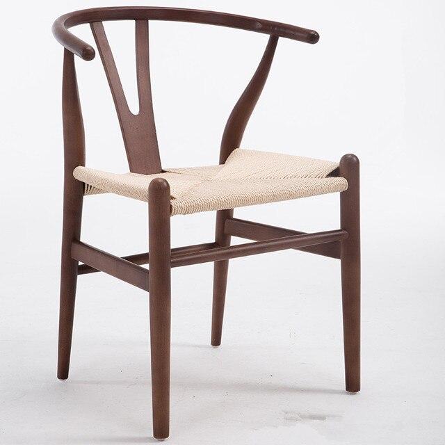 Moderno Hans Wegner Wishbone Silla de comedor de madera de haya ...