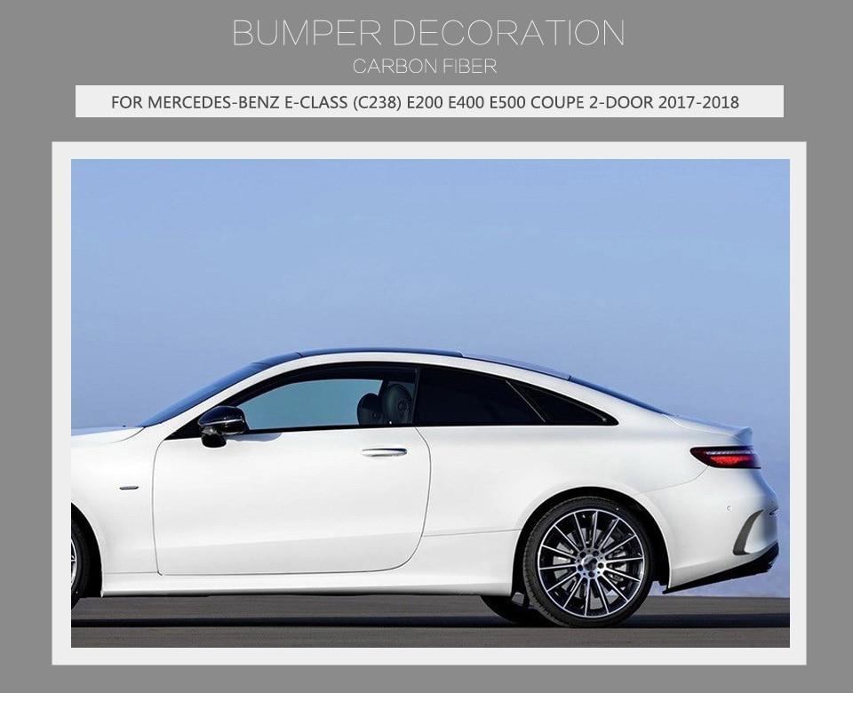 Carbon Fiber Auto Rear Bumper Vents Exterior Trims For Mercede Benz
