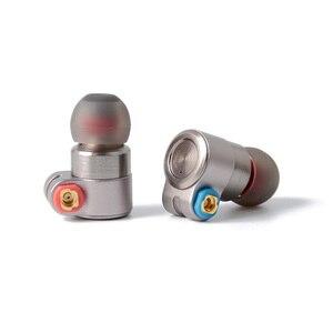 Image 1 - سماعات أذن معدنية HIFI T3 Knowles BA ، مشغل ديناميكي هجين ، سماعات أذن بكابل MMCX قابل للفصل من القصدير ، T2