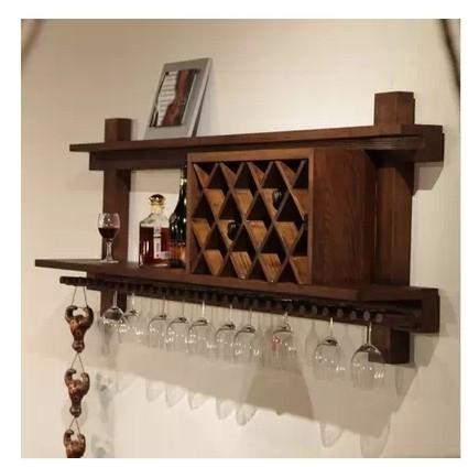 american retro wood wine cabinets showcase modern wine rack hanging rh aliexpress com