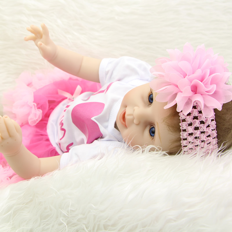 Lifelike 22 Inch Reborn Babies Doll Silicone Vinyl Newborn Girl Baby Toy Truly Real Princess Dolls Boneca Kid Birthday Xmas Gift lifelike american 18 inches girl doll prices toy for children vinyl princess doll toys girl newest design