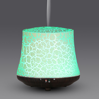 Home Pretty Desktop Mini Aroma Diffuser Ultrasonic Air Aromatherapy Humidifier With Color Change LED Light 100ML