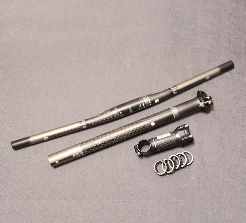 FUTURO ¡Envío gratis! MTB bicicleta bicicleta fibra de carbono manillar + tija de sillín + tallo = 1 lote Bienvenido a comprar el producto de alta calidad