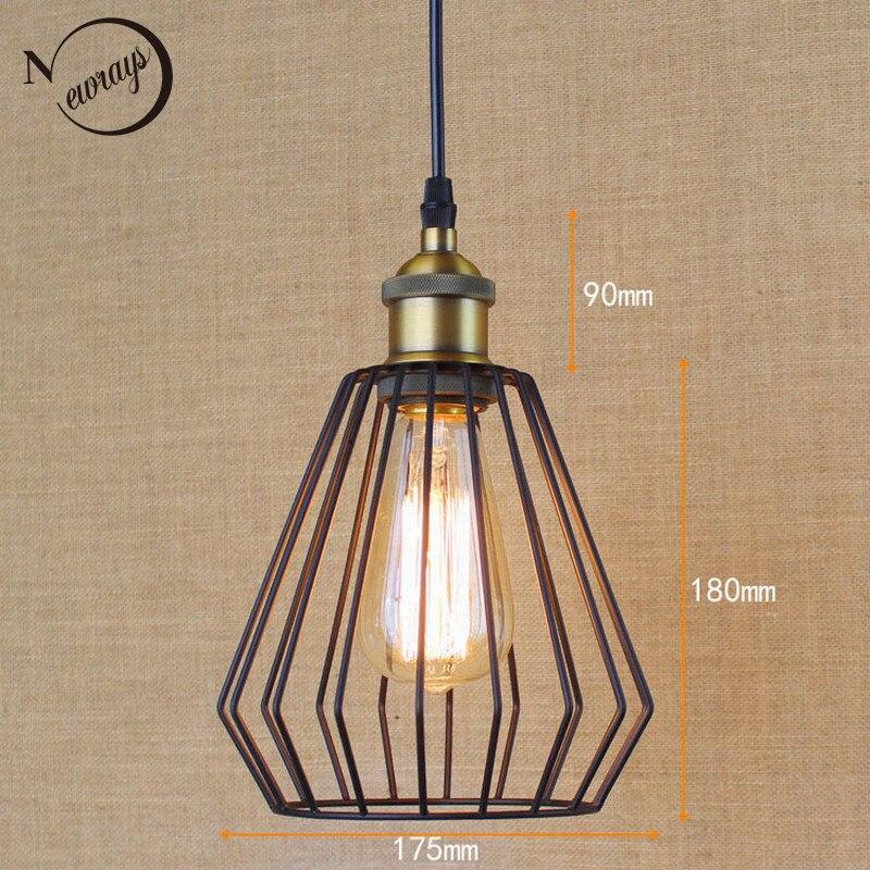 Hardware Osvětlení Osvětlení Loft retro black Průmyslové kovové dráty s kuličkovým závěsem Osvětlení Kuchyňské / barové kávové světla