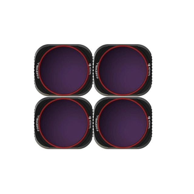 Freewell Helle Day 4K Series 4Pack ND8/PL, ND16/PL, ND32/PL, ND64/PL Kamera Objektiv Filter Kompatibel mit DJI Mavic 2 Pro Drone