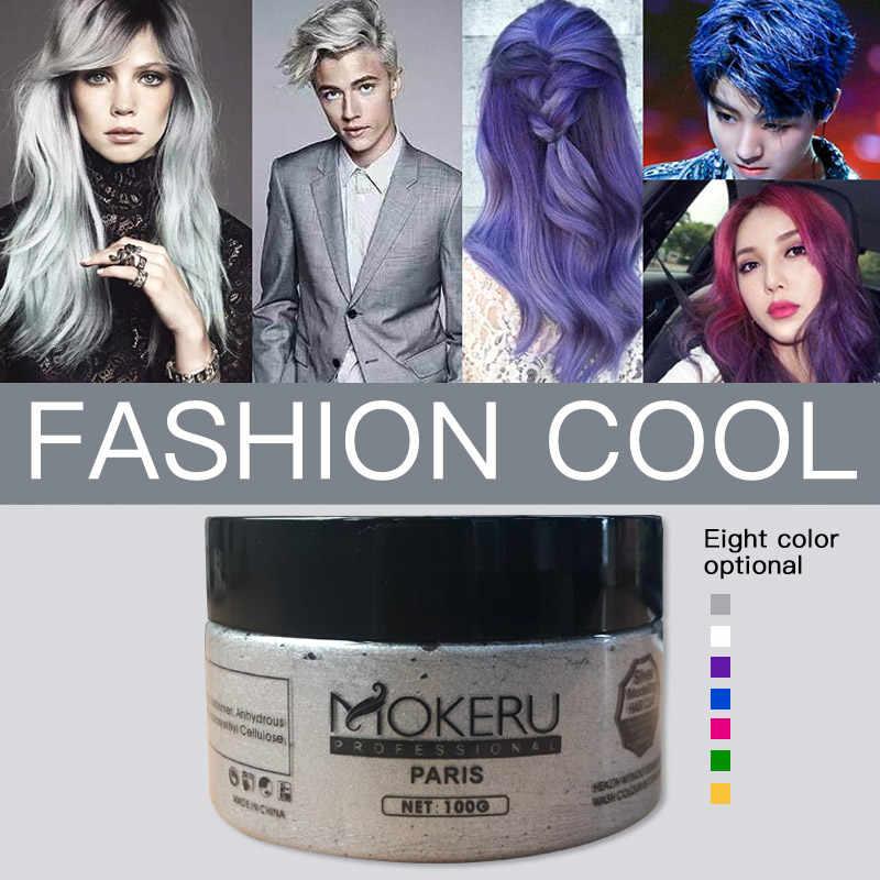Lanbena 100g Doğal Unisex saç rengi kremi Kül Mor Kahverengi Boya Geçici krem saç boyası Kadınlar Erkekler Için Boya Saç Şekillendirici