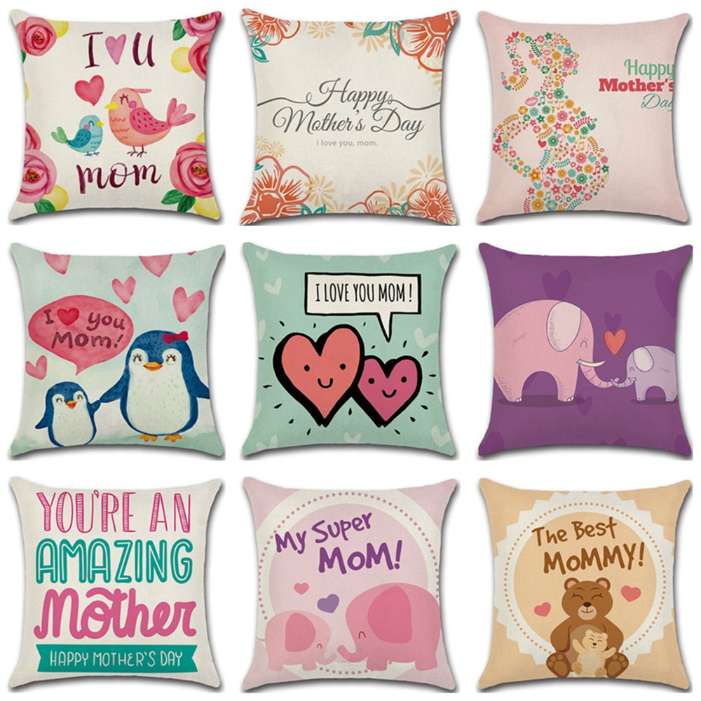 Mother's Day Decorative Pillow Happy Mothersday Gift