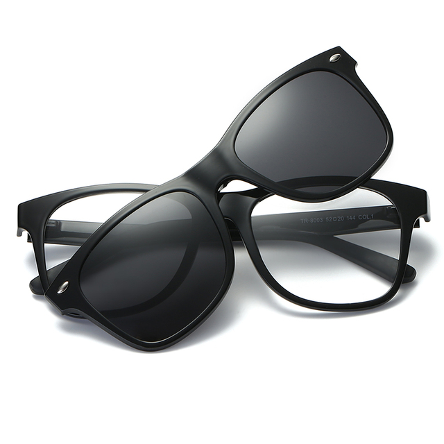30377fc10ab Polarized Clip On Sunglasses Include Frame Women Men Magnetic Clips Sun  Glasses for Driver TR90 Optical