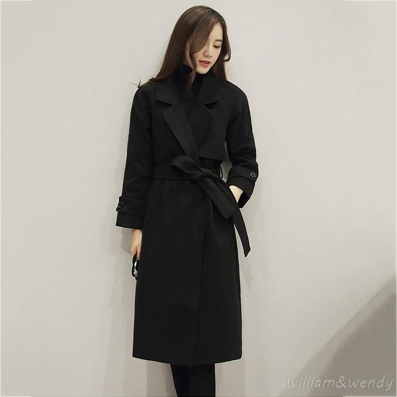 font b Women b font Black Cashmere Palto Light Pink Down Coat Winter Autumn Long