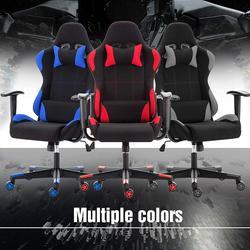 Tkaniny komputer do gier krzesło oddychające fotel biurowy wyścigowy do sypialni ergonomiczne obrotowe z wysokim oparciem GB w Krzesła biurowe od Meble na