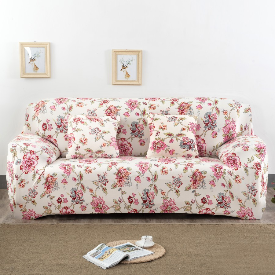 Spandex Stretch Red Flower Pattern Sofa Cover Big Elasticity 100% Polyester  Sofa Furniture Cover In Sofa Cover From Home U0026 Garden On Aliexpress.com ...
