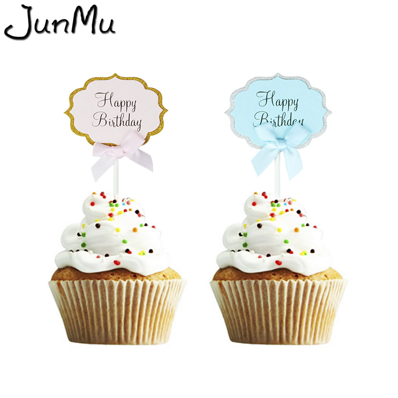 cbd5959dff06e US $1.39 35% OFF|First Birthday Cake Cupcake Topper 1st Party Decorations  Baby Boy Girl I Am One Year Gold 1 Anniversary Supplies-in Party DIY ...