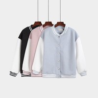 Autumn And Winter College Wind Leisure Students Loose Cute Fight Color Single Row Buckle Long Sleeve