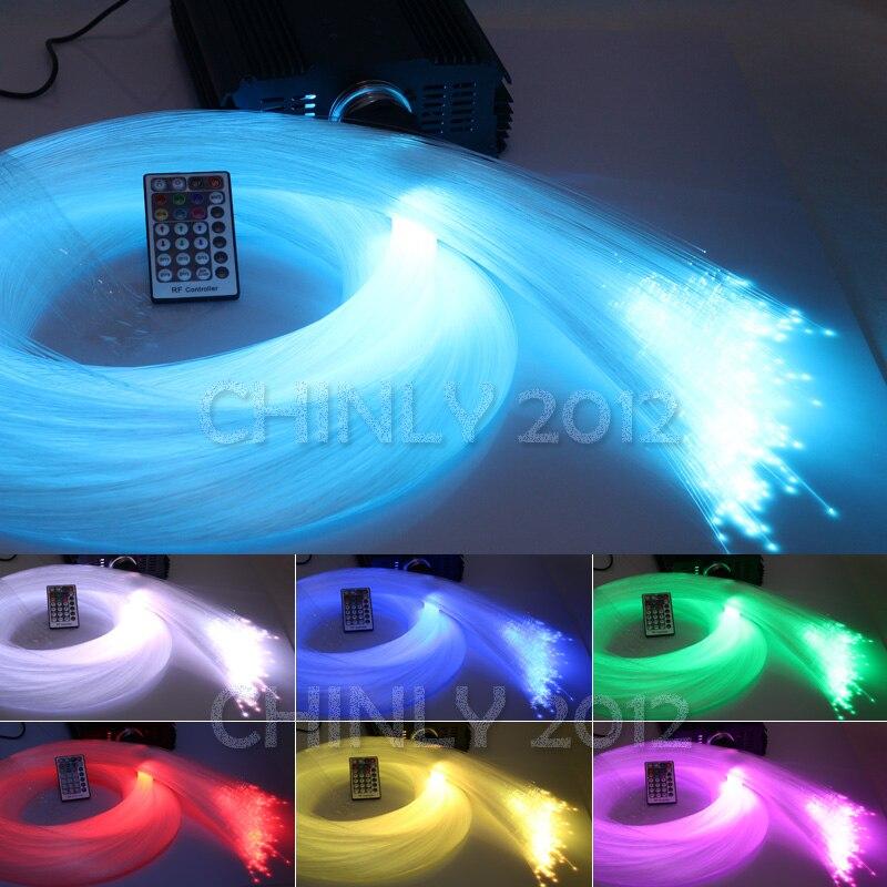 Image 4 - DMX 45W RGB 28key remote LED Fiber Optic  star ceiling kit light 1000pcs 5m 0.75mm for light fixture of ceiling-in Optic Fiber Lights from Lights & Lighting