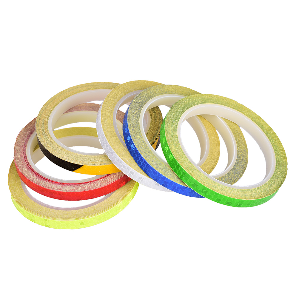 Fluorescent  Bike Bicycle Cycling Motorcycle Reflective Stickers Strips Tape MFL