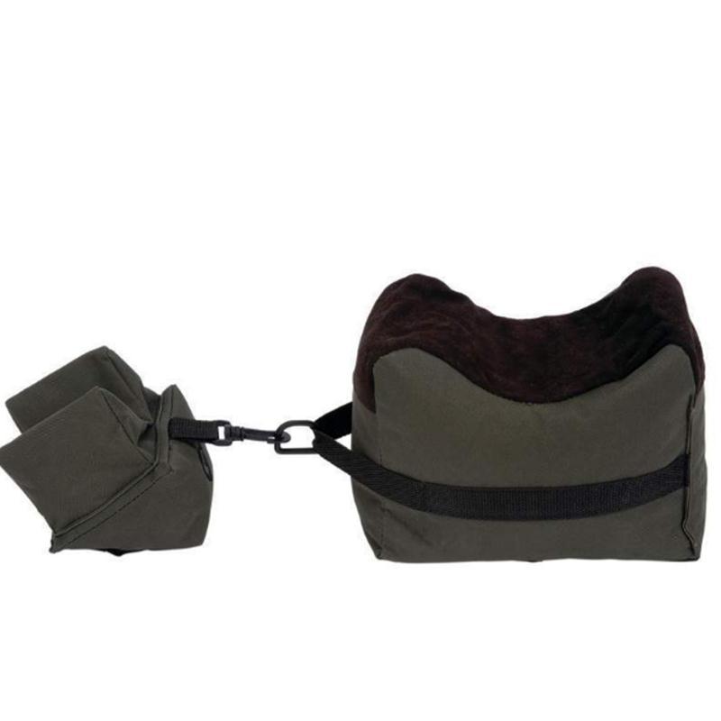 Shooting Front & Rear Bench Rest Bags Gun Rest Range Rifle Target Bench Unfilled Sandbag Stand Hunting Shotgun Gun Accessories