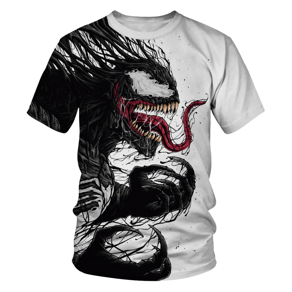 New Marvel Venom Men t-shirt 3D Print Round neck Short Sleeve casual T-shirt Fashion Women Men's shirt
