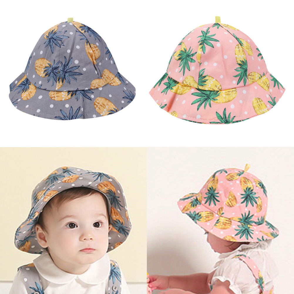 Newborn Baby Girls Boys Spring Summer Sun Hats Cotton Fashion Casual Fisherman Cap Pineapple Floral Hat Baby Accessories самокат stiga mini kid 3w