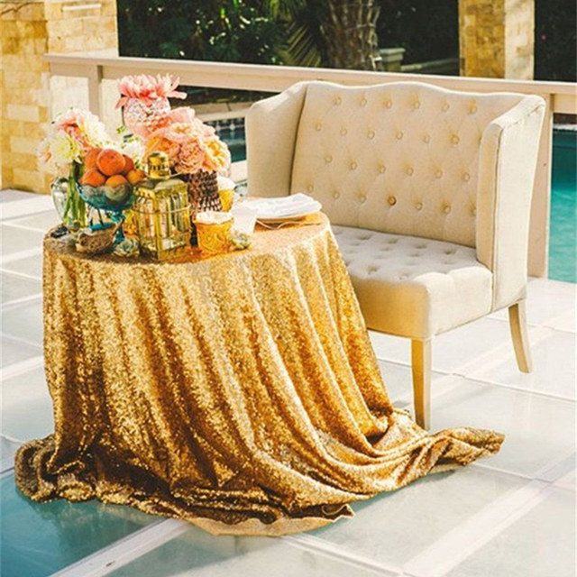 72\'\' Round Gold Sequin Round Wedding Table Covers Cheap Wedding ...
