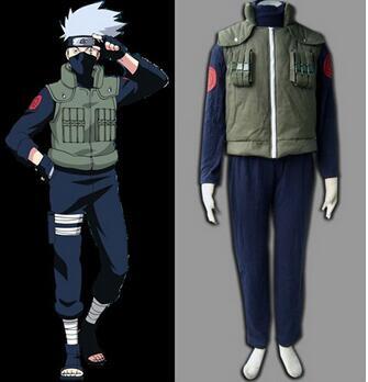 Halloween costume adult naruto Hatake Kakashi cosplay costume for men anime clothes  Custom made