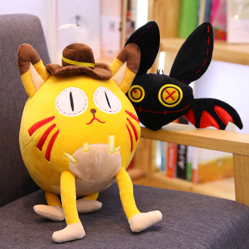 1 Pc Cute Cat Animal Bats Stuffed Toys Children Gifts Home Decoration Kawaii Personality Holiday Gifts Rapid Heat Dissipation