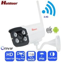 Holdoor Wi-Fi IPC HD 720 P Беспроводной IP Камера Wi-Fi камера видеонаблюдения Cam металла IP66 ИК-Открытый Водонепроницаемый FTP оповещение по электронной почте